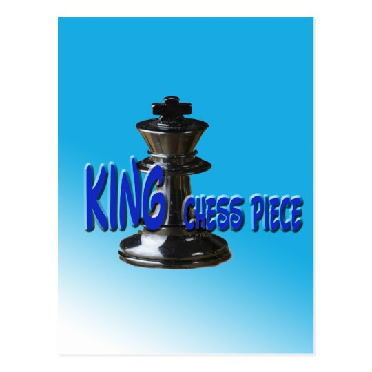 King Chess Piece With Background Postcard