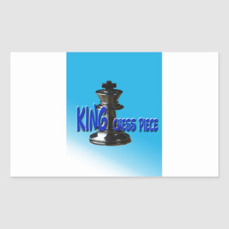 King Chess Piece With Background Rectangular Sticker