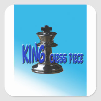 King Chess Piece With Background Square Sticker