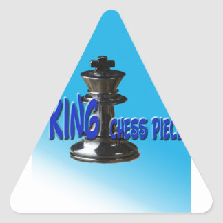 King Chess Piece With Background Triangle Sticker