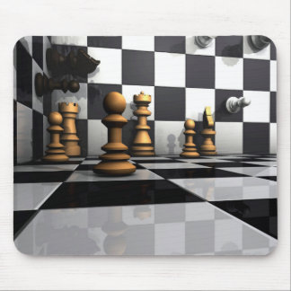 King Chess Play Mouse Pad