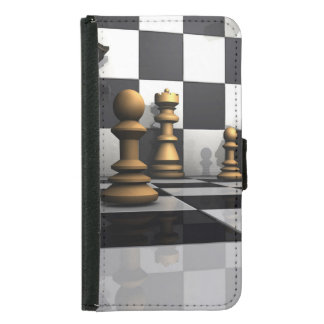 King Chess Play Wallet Phone Case For Samsung Galaxy S5