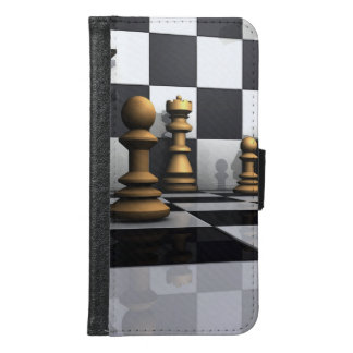 King Chess Play Wallet Phone Case For Samsung Galaxy S6