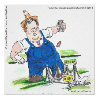 King Christie Funny Political Cartoon Poster