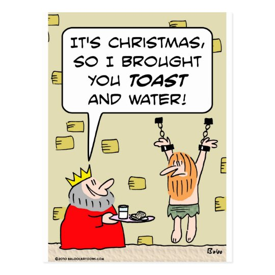 king christmas toast water postcard
