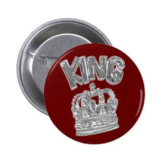king.chrome pin redondo 5 cm