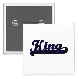 King Classic Job Design 2 Inch Square Button