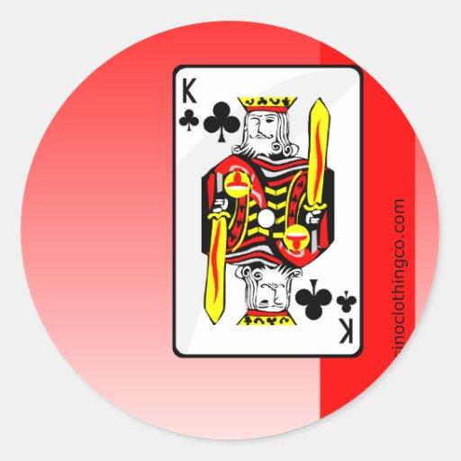 king clubson red design round sticker