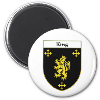 King Coat of Arms/Family Crest Magnet