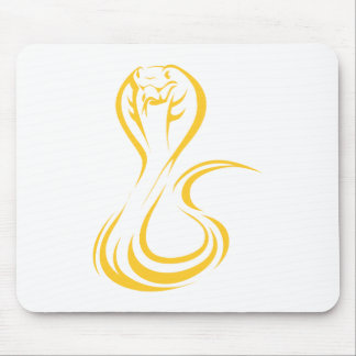 King Cobra in Swish Drawing Style Mouse Pad