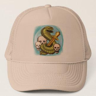 King Cobra Skull Sword Trucker Hat