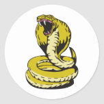 king cobra snake angry attacking stickers