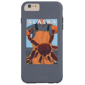 King Crab and Fisherman Vintage Travel Poster Tough iPhone 6 Plus Case