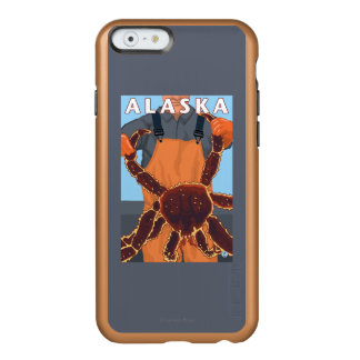 King Crab and Fisherman Vintage Travel Poster Incipio Feather® Shine iPhone 6 Case