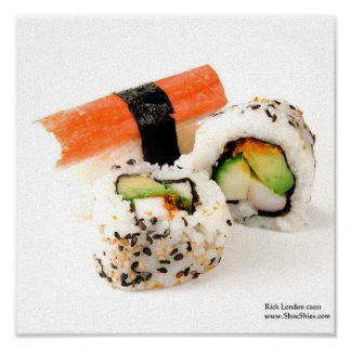 King Crab & California Roll Sushi Posters