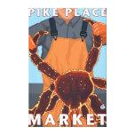King Crab Fisherman - Pike Place Market, Seattle Canvas Print