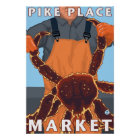 King Crab Fisherman - Pike Place Market, Seattle Poster