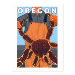 King Crab Fisherman- Vintage Travel Poster Postcards