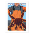 King Crab Fisherman - Washington Postcard