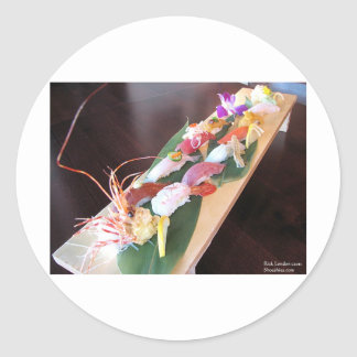 King Crab/Tuna Sushi Womens Gifts & Cards Stickers