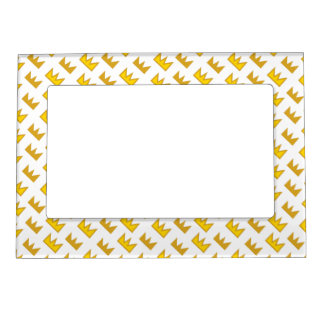 King Crown Art Picture Frame Magnets
