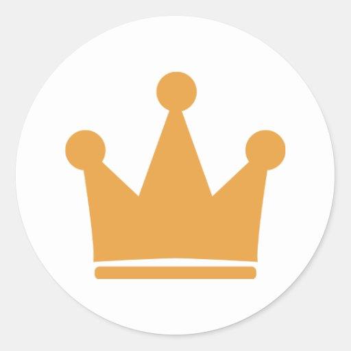 king crown classic round sticker