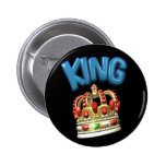 king.crown pinback buttons