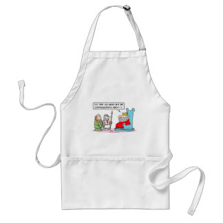 king cut head off compassionate adult apron