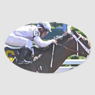 King Cyrus with Javier Castellano Oval Sticker