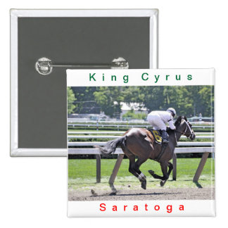 King Cyrus with Javier Castellano Pinback Button
