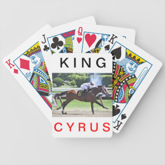 King Cyrus with Javier Castellano Poker Cards