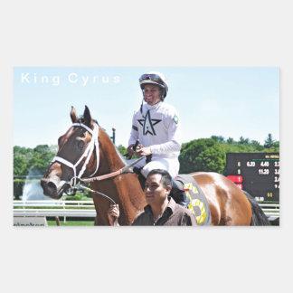 King Cyrus with Javier Castellano Rectangular Sticker