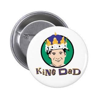 King Dad Pinback Button