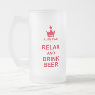 King Dad fun relax and drink beer red beer mug