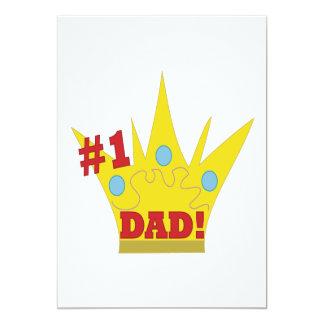 King Dad 5x7 Paper Invitation Card