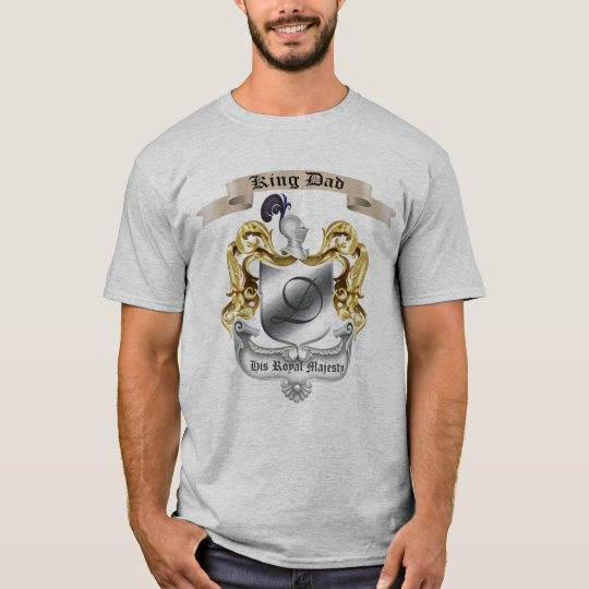 King Dad Royal Majesty Father's Day Fitted T-Shirt