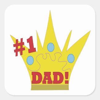 King Dad Square Sticker