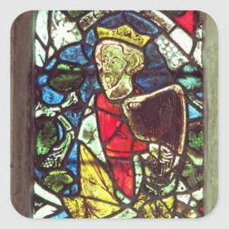 King David, 14th century Square Sticker