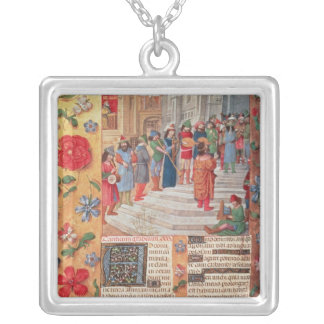 King David and Musicians, from the Breviary Silver Plated Necklace