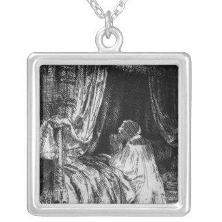 King David at prayer, 1652 Square Pendant Necklace