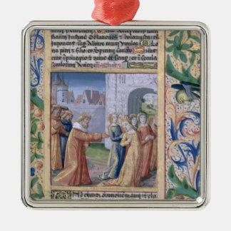 King David coveting Bathsheba Christmas Tree Ornament