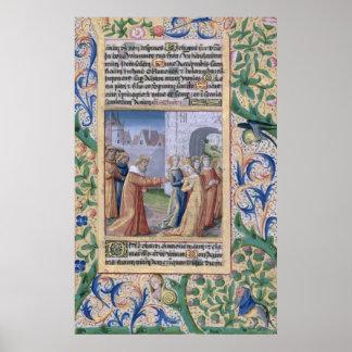 King David coveting Bathsheba Poster