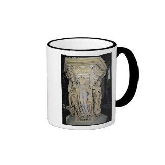 King David flanked by Moses and Jeremiah Ringer Mug