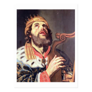 King David (panel) Postcard