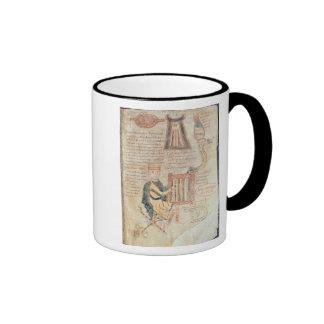 King David playing a psaltery from a psalter Ringer Mug