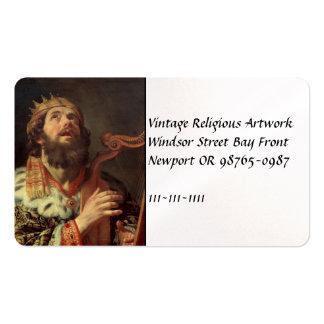 King David Playing His Harp Business Card