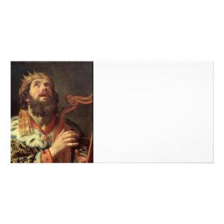 King David Playing His Harp Card