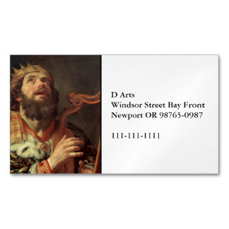 King David Playing His Harp Magnetic Business Card