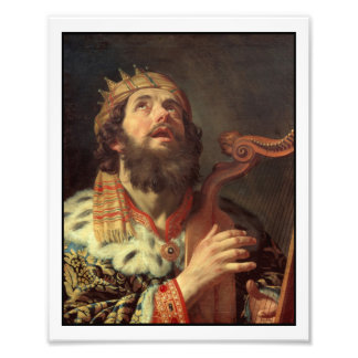 King David Playing His Harp Photo Print