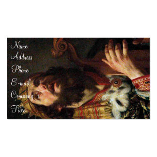 'King David Playing the Harp' Double-Sided Standard Business Cards (Pack Of 100)